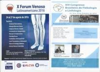 2016 – Dr. Simkin en el X Forum Venoso Latinoamericano, Bogotá y en el XIV Congreso Brasilero de Flebología y Linfología